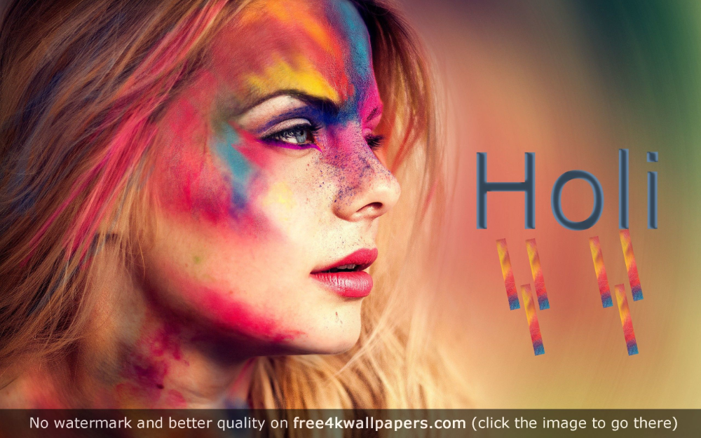 Colorful Festival Holi 4k Or Hd Wallpaper For Your Pc Mac Or Mobile Device Desktop Wallpapers Festival Makeup Glitter Holi Festival Beautiful Girl Wallpaper