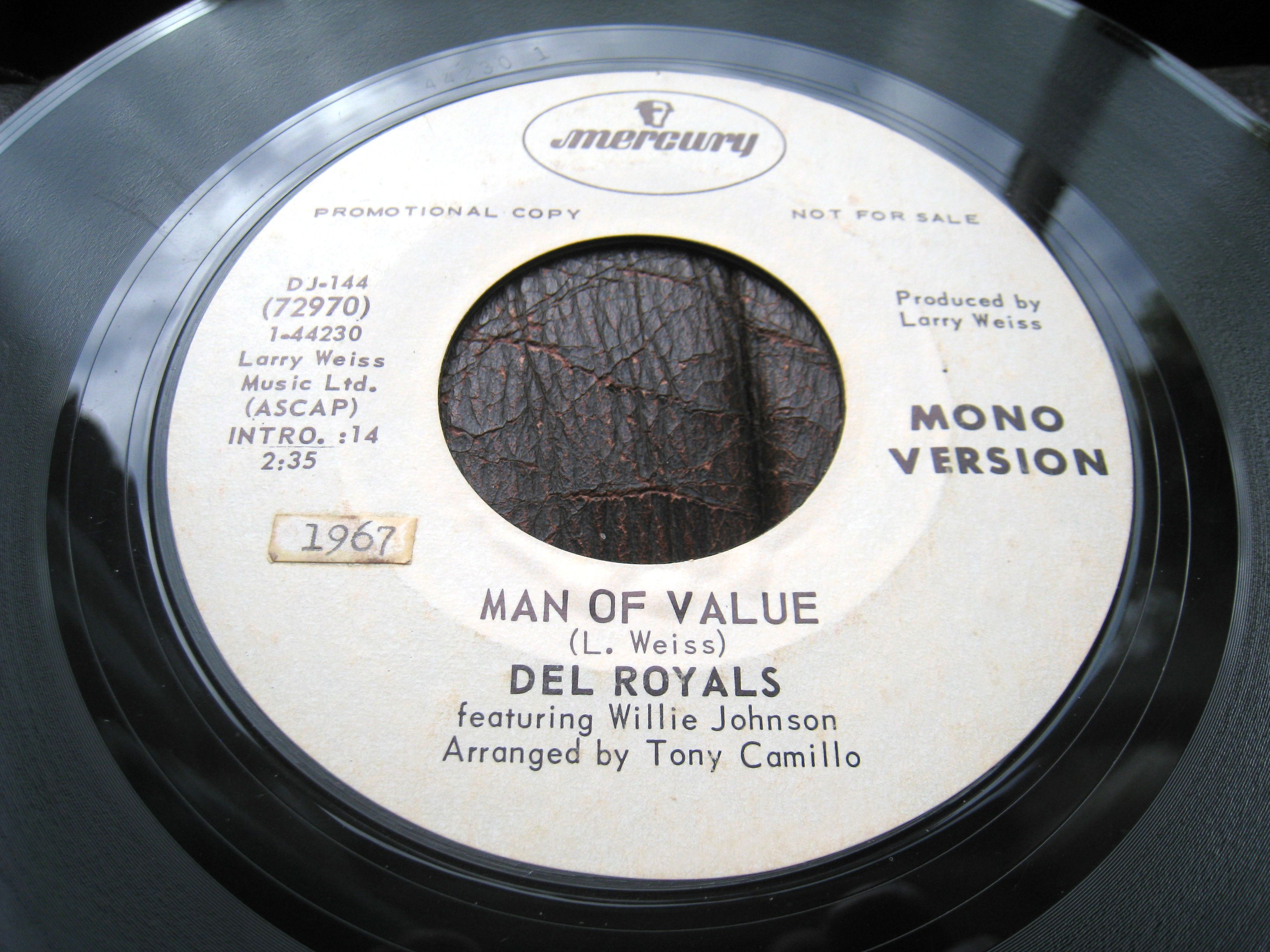 Del Royals - Man Of Value (promo) | Northern Soul Record
