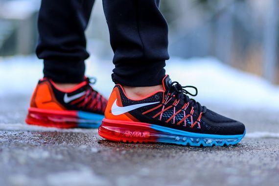 Nike Air Max 2015 Hommes Lagon Bleu Chaussures Pourpre Brillante Pk