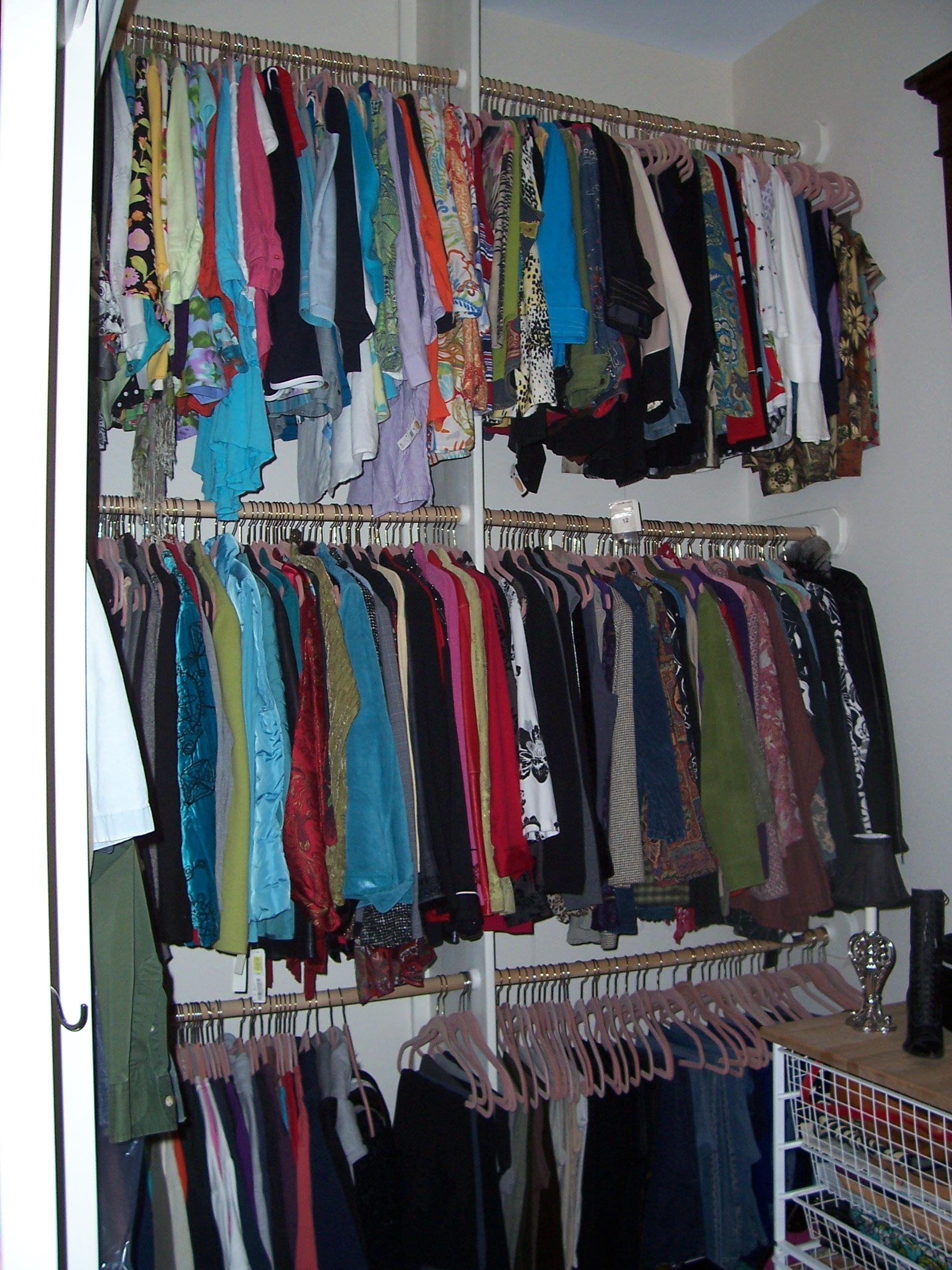 Triple Hanging Racks Spare Room Closet Closet Organization