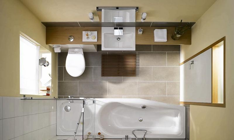 Schmales Badezimmer, Badezimmer Und
