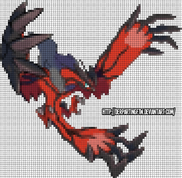 Dracaufeu Pixel Art Pokemon