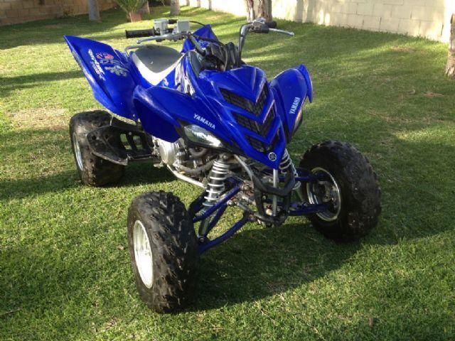 2007 yamaha raptor 700r 4 wheeler blue for sale in