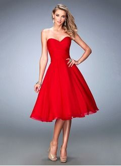 08c1a683deb Ball-Gown Strapless Sweetheart Knee-Length Chiffon Cocktail Dress With  Ruffle