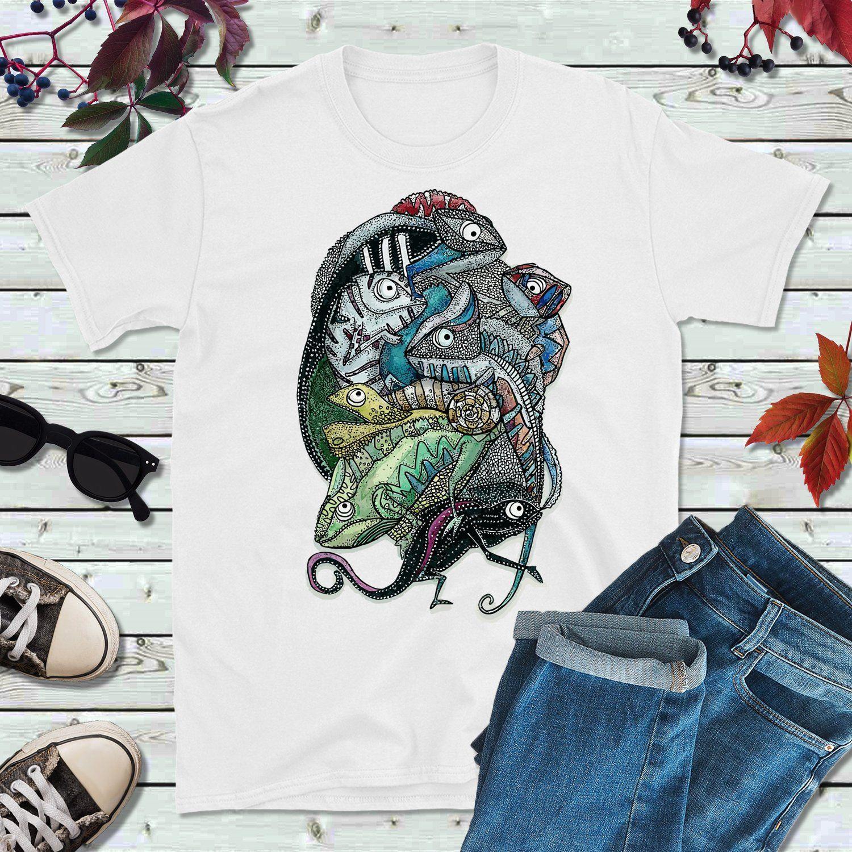 cf47240e6 Lizard T-Shirt Unisex   Iguana Tshirt   Reptile Lovers Tee Shirt Gift    Comma