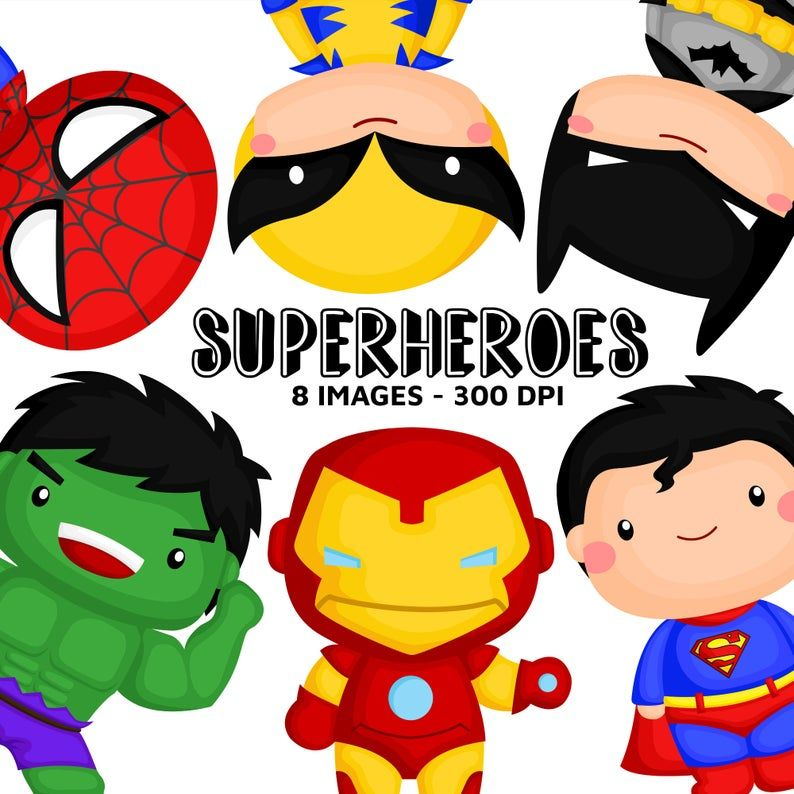 Superheroes Clipart Superhero Clip Art Cute Superhero Free Svg On Request Desenhos Infantins Quadro Super Herois Super Herois Infantil