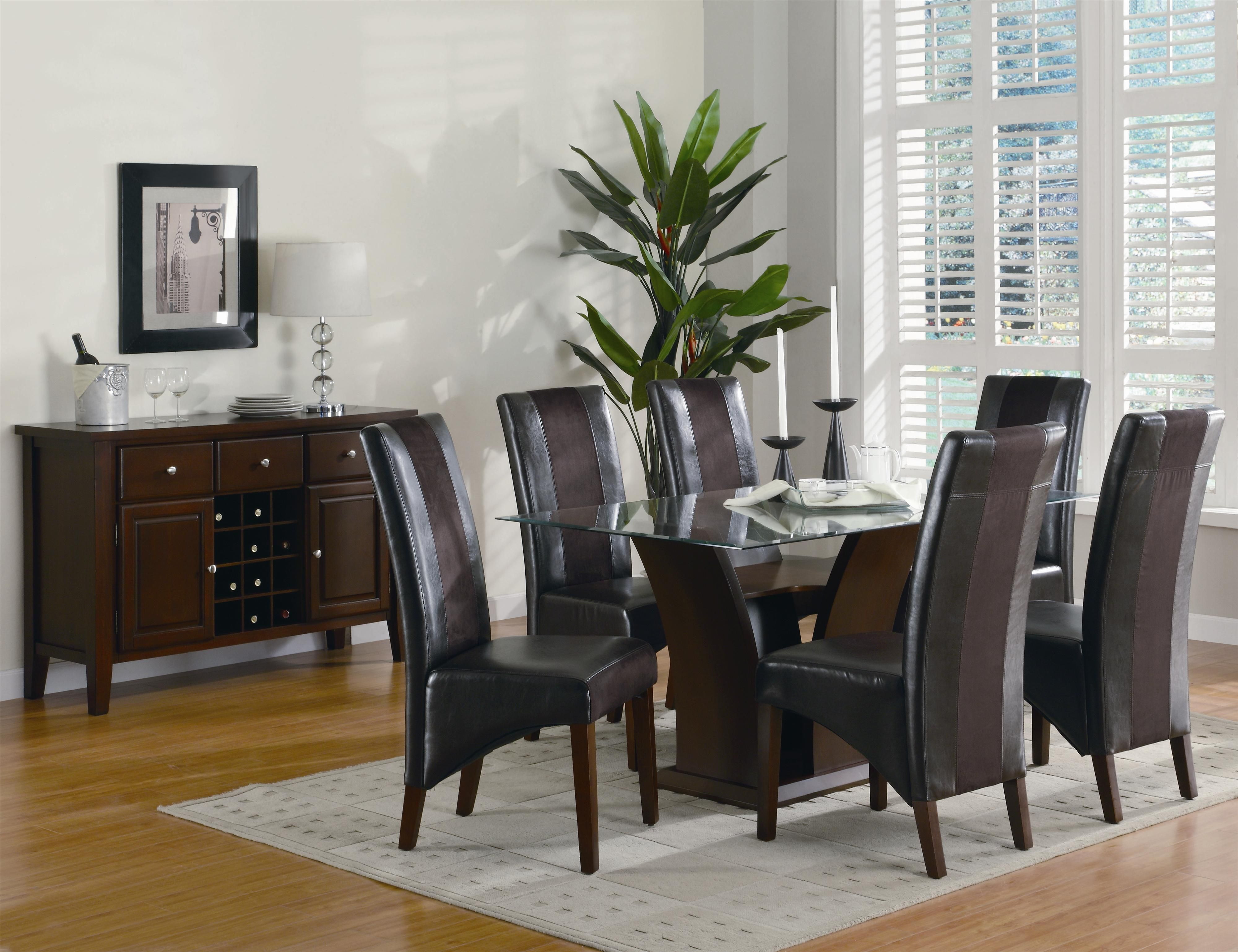 Coaster Rodeo Seven Piece Dining Set   DreamHome Furnishings   Dining 7 (or  More)