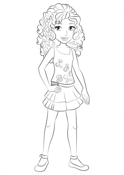 Lego Friends Coloring Pages Andrea Legos Lego Friends Lego