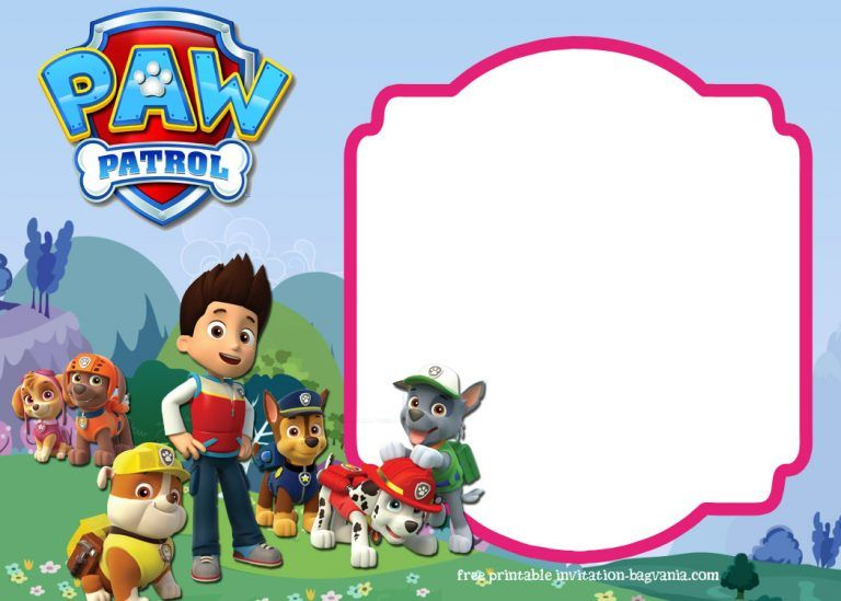 Paw Patrol Birthday Invitation Templates Most Complete Bagvania FREE Printable Template