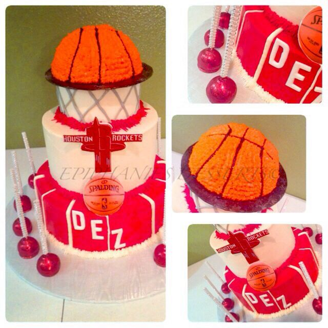Basketball Themed Cake. 6tiers, All Edible. Houston
