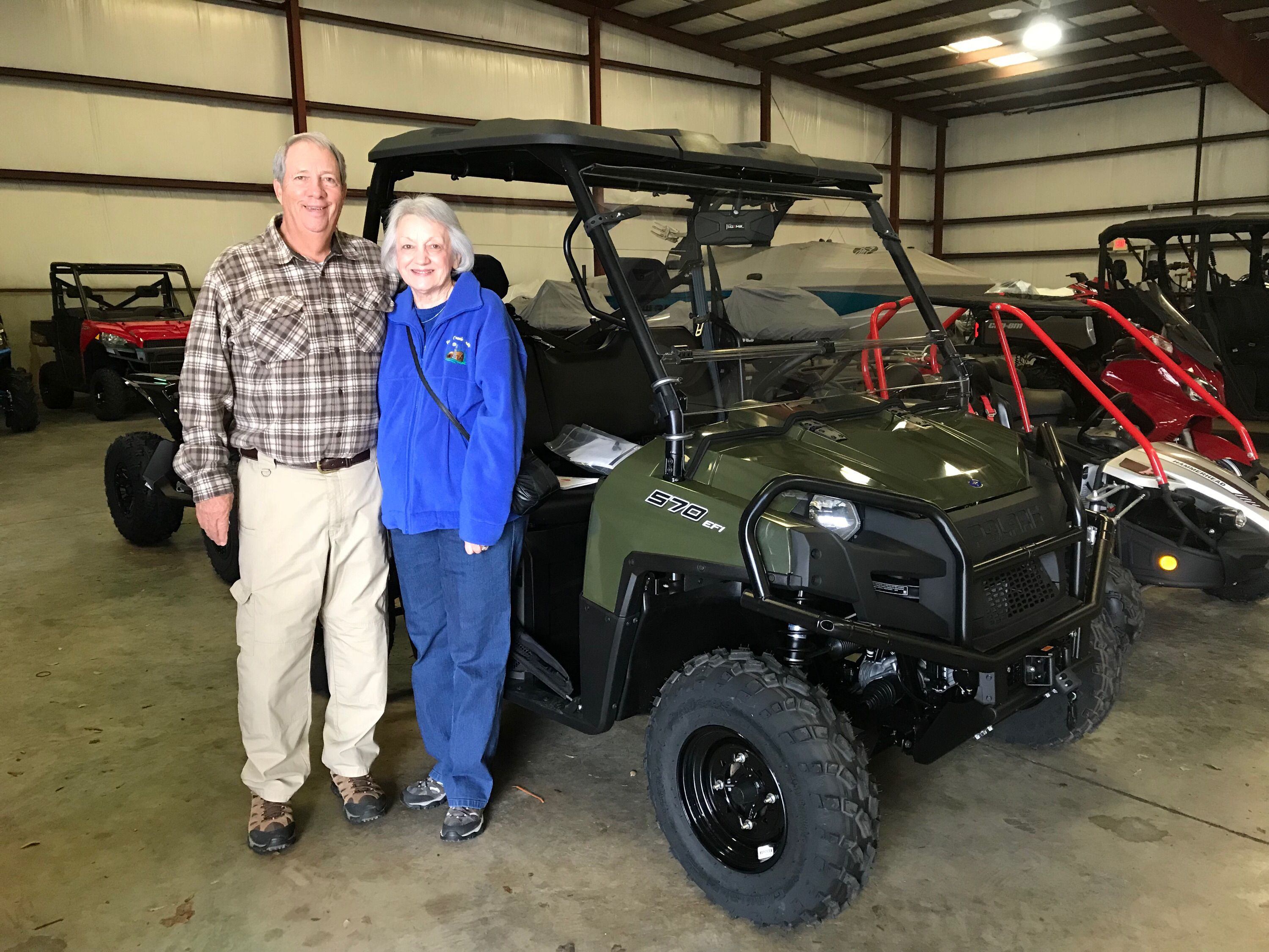Congratulations to Pat and Joy Conerly from Sumrall, MS for purchasing a 2018 Polaris Ranger 570 at Hattiesburg Cycles. #polaris