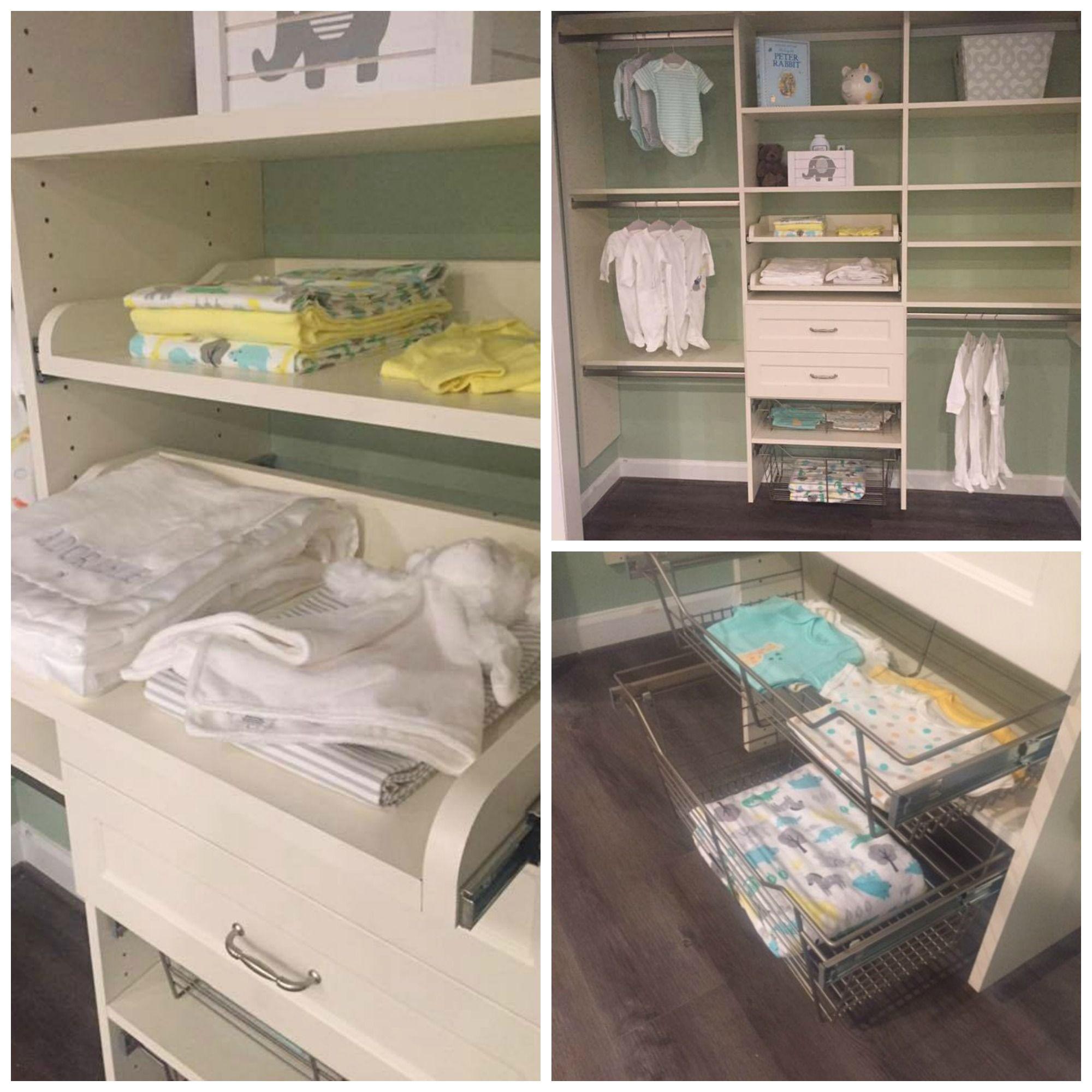 A nursery closet for a sweet little bundle of joy Closet