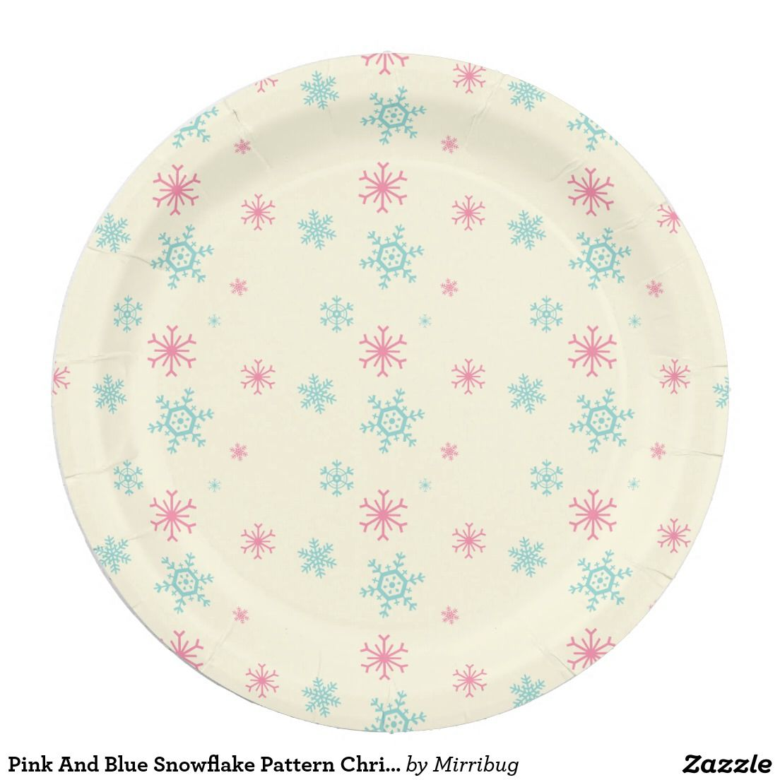 Pink And Blue Snowflake Pattern Christmas Wintery Paper Plate  sc 1 st  Pinterest & Pink And Blue Snowflake Pattern Christmas Wintery Paper Plate ...