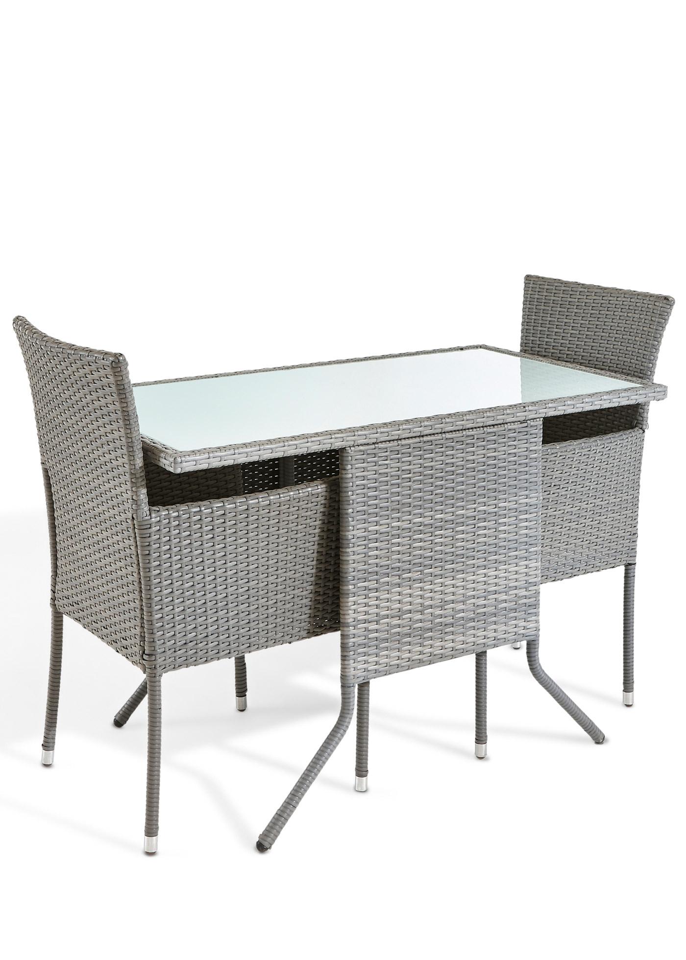 Hochwertig und modern: das 5-tlg. Balkonmöbel-Set