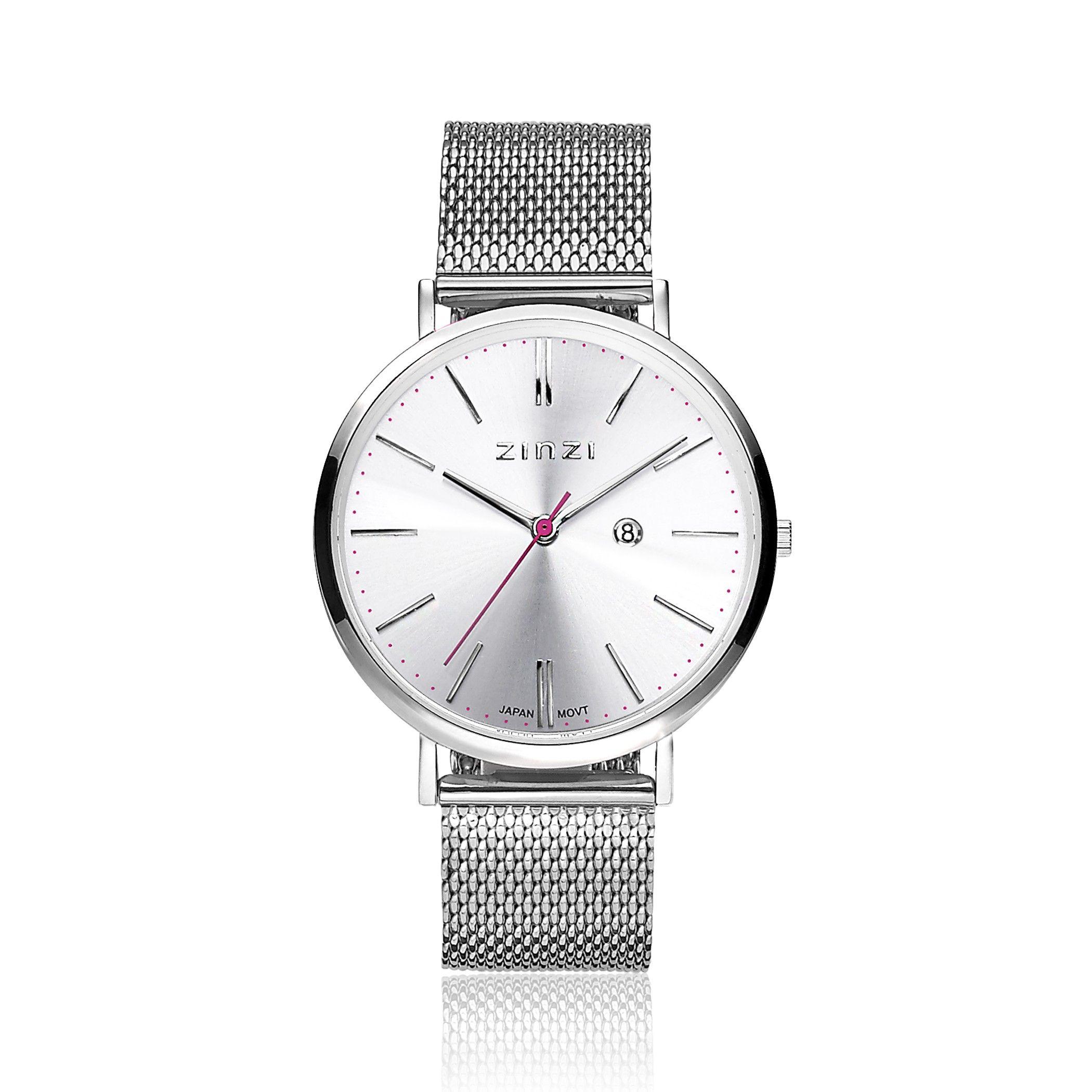 Zinzi Retro Horloge Zilvergekleurde Wijzerplaat En Kast