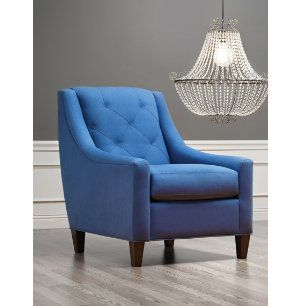 Best Layla Tufted Back Chair Chairs And Ottomans Living 640 x 480