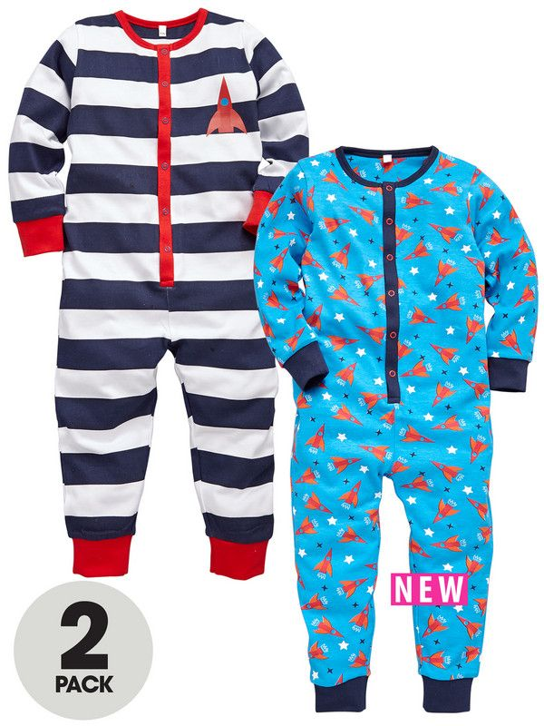Ladybird Toddler Boys Rocket Sleepsuits (2 pack) 12 Months - 7 Years  dabf320164