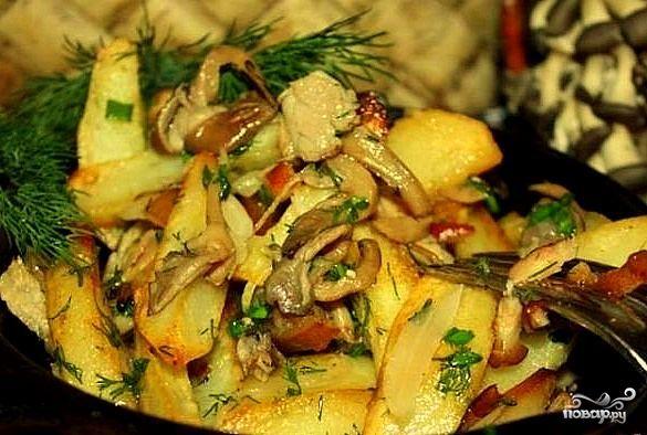 вешенки рецепт с картошкой