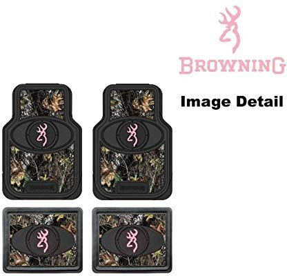 Browning Arms Company Pink Buckmark Brand Camo Logo Car