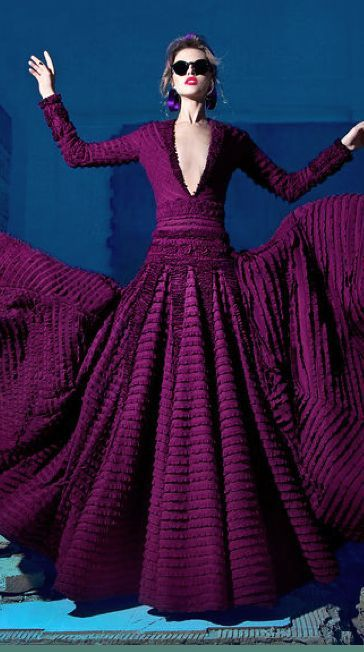 NICOLAS-JEBRAN purple dress jaglady