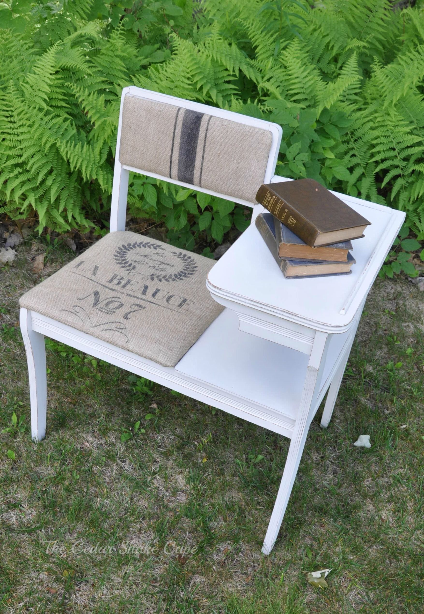 Chaise Longue Telephone Table Shabby Chic Vintage Telephone Table Makeover Reproduction Grain