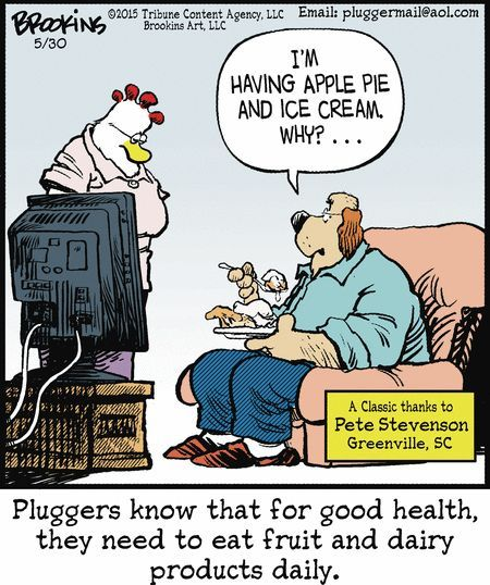 Humor In Dites & Fitness - Pluggers by Gary Brookins, May ...
