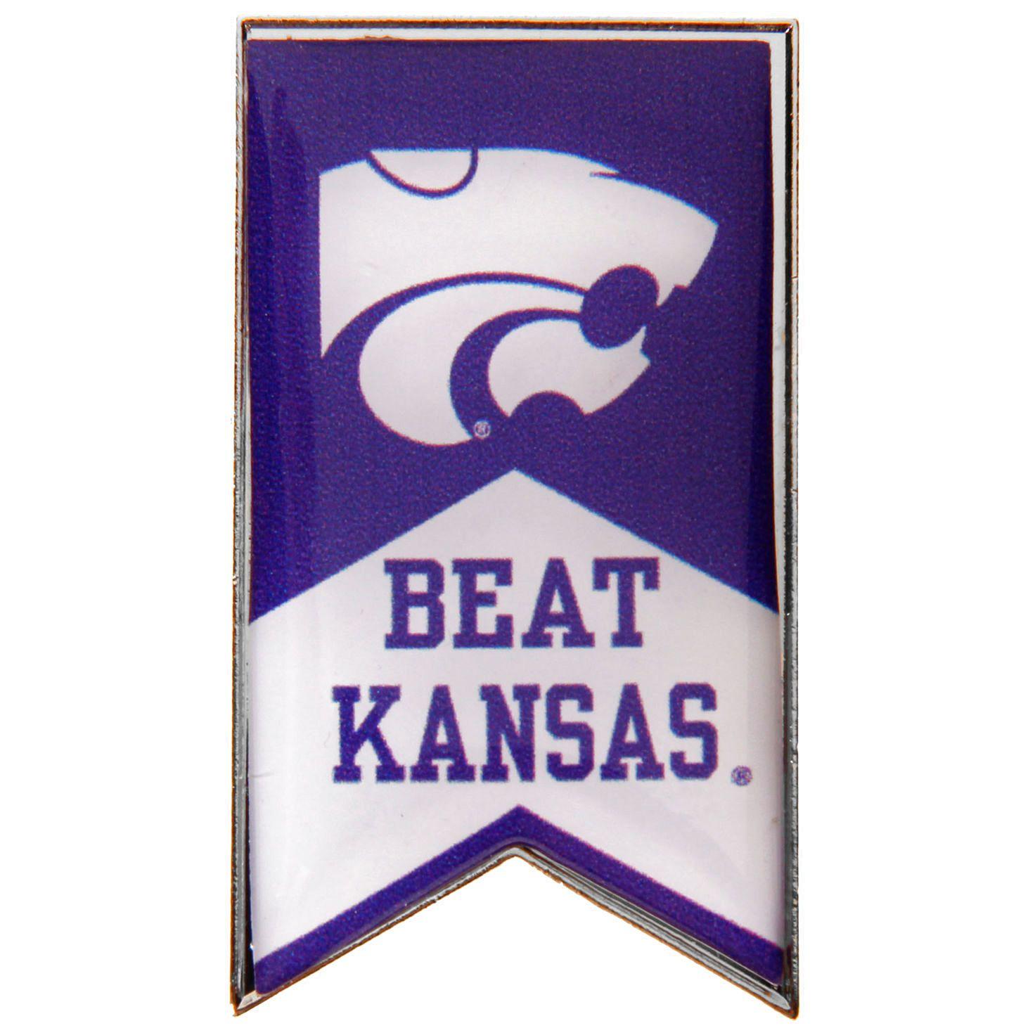 Kansas State Wildcats Beat Kansas Rivalry Banner Pin - $5.59