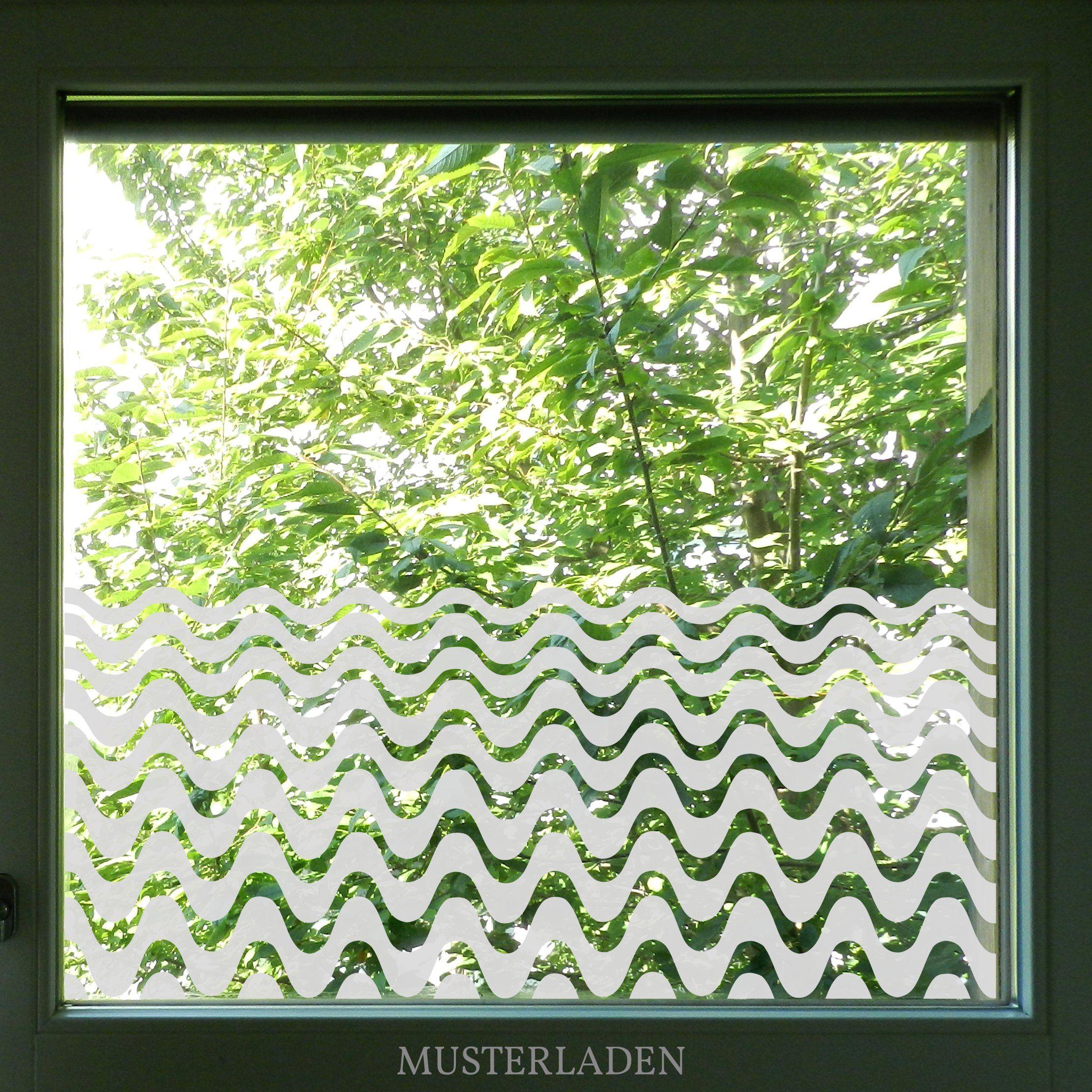 Fenstertattoo Mit Motiv Glasdekorfolie Wellen Fensterfolie Fenstertattoo Sichtschutz Fenster Innen