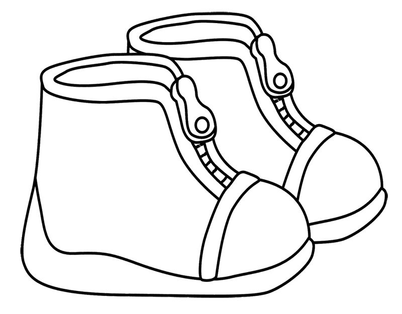 Winter Boots For Children Coloring Page Winter Coloring Page
