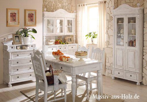 Wohnideen Landhausstil traumküche in weiß massiv aus holz de home küche