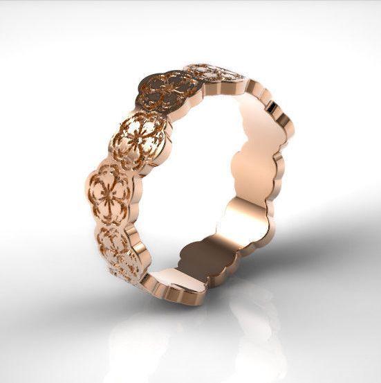 gold ring cherry blossom ring flower ring