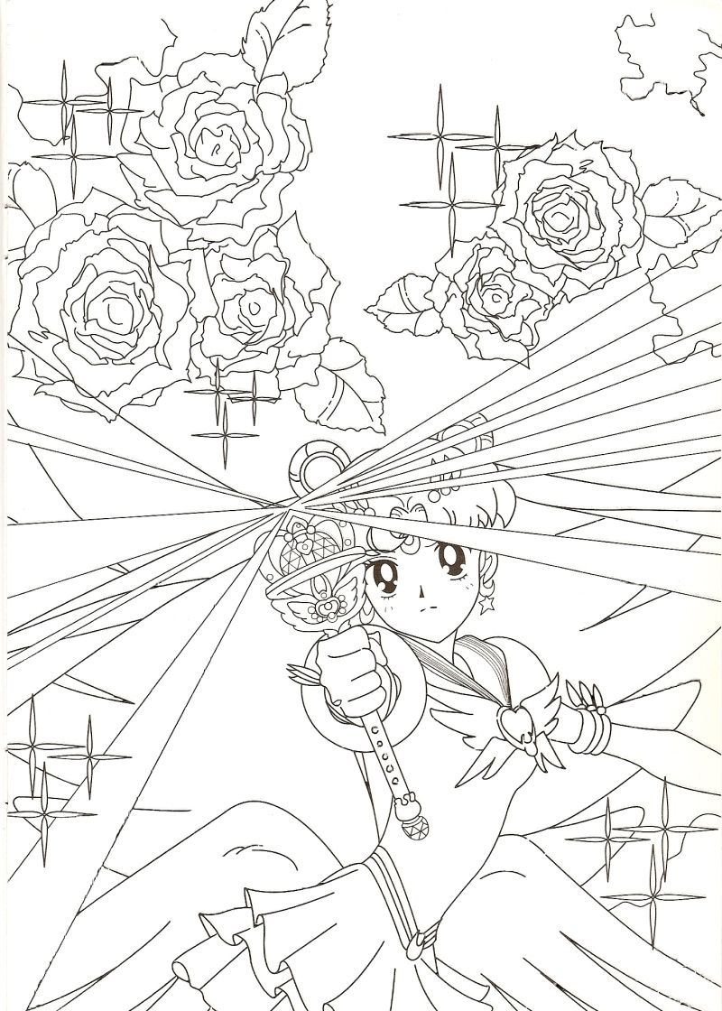 Eternal Sailor Moon Coloring Page // #sailormoon | Moon Prism Power ...