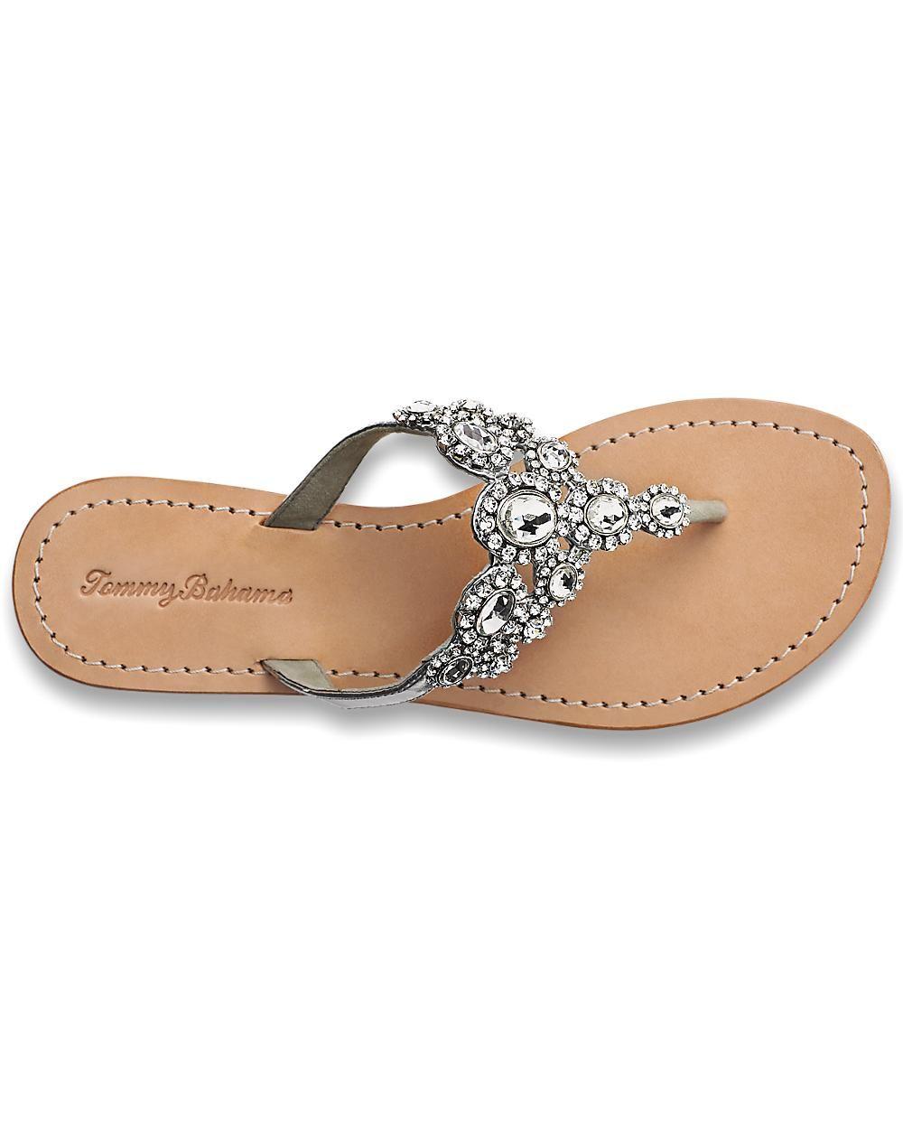Flat rhinestone sandals for wedding - Wedding Crystal Flat Sandals Tommy Bahama 168 Loveeeee These