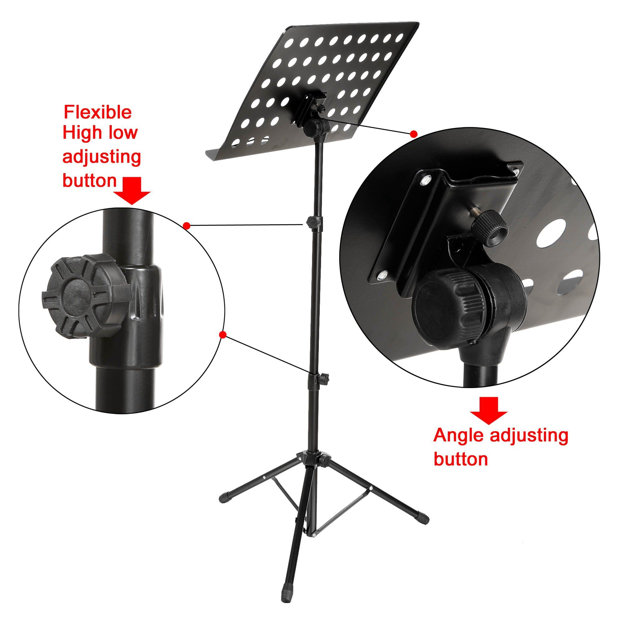 Coocheer Black Folding Music Conductor Stand Sheet/Book