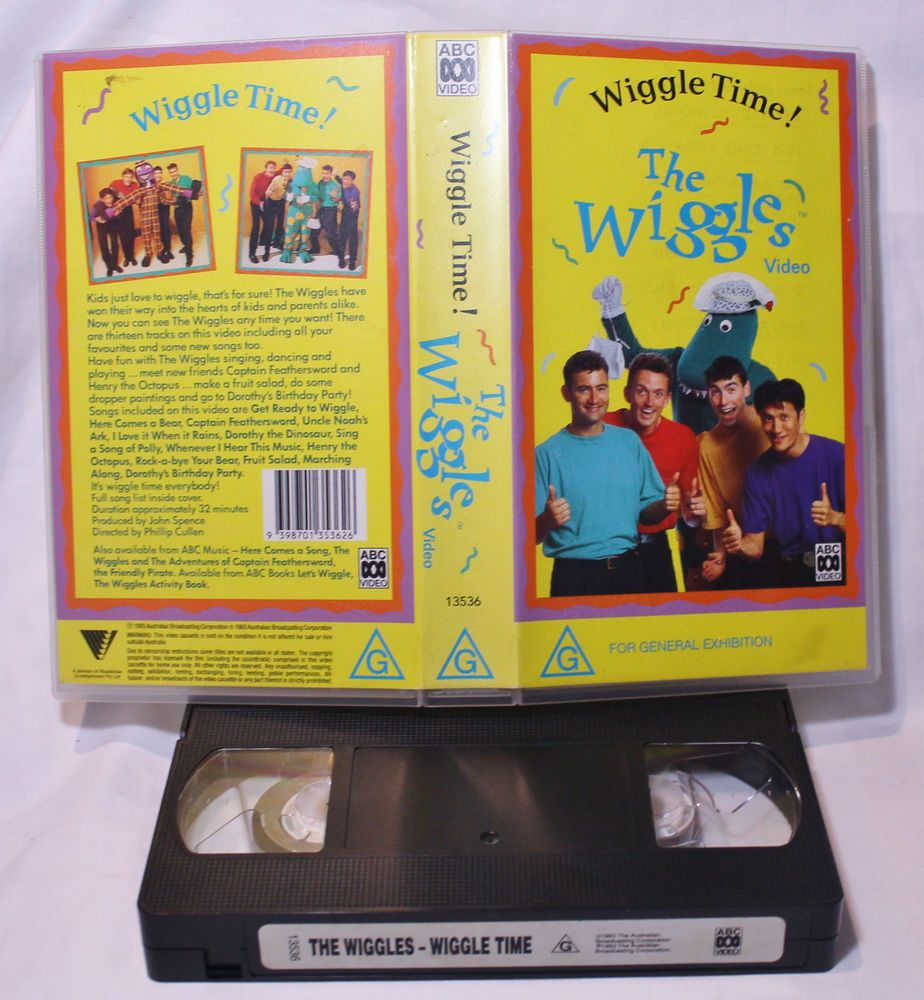 ABC THE WIGGLES VIDEO WIGGLE TIME! 1993 CHILDREN S VIDEO