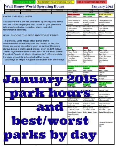 January 2015 At Disney World Disney Trip Planning Disney World Crowd Calendar Disney Time
