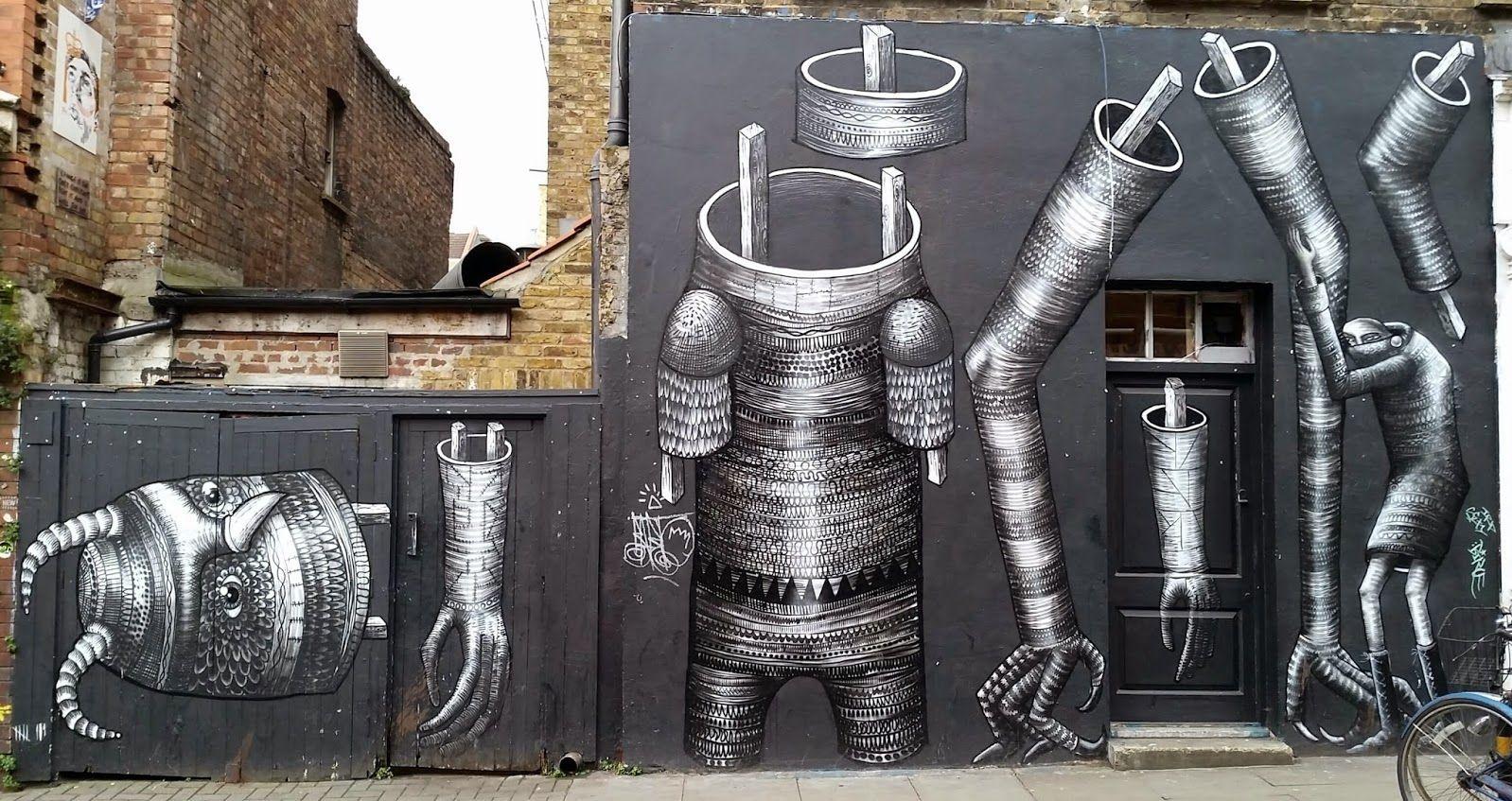 by Phlegm in BrickLane, London -Street Art on G+ - Community - Google+