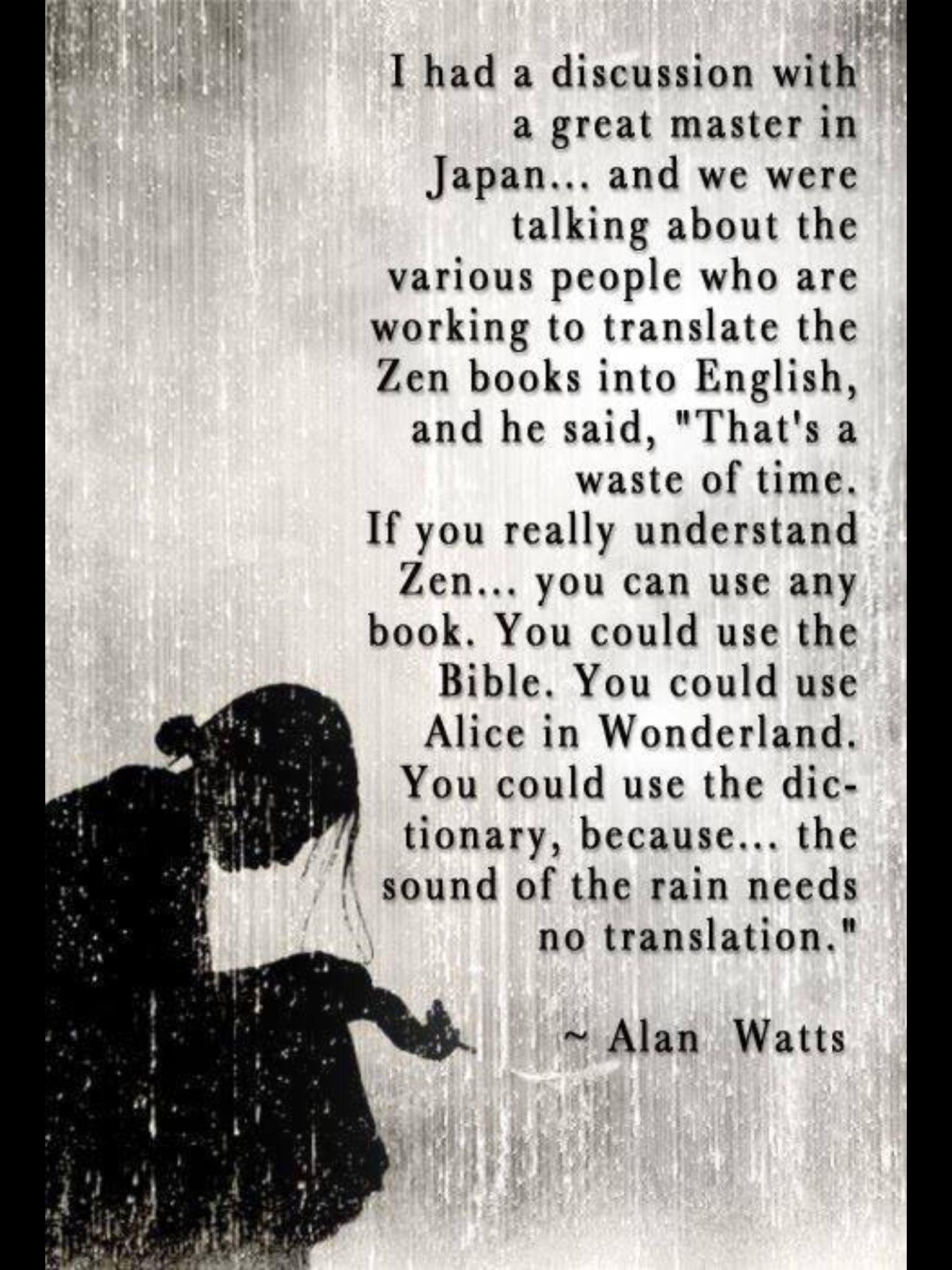 Alan watts quotes life implies death