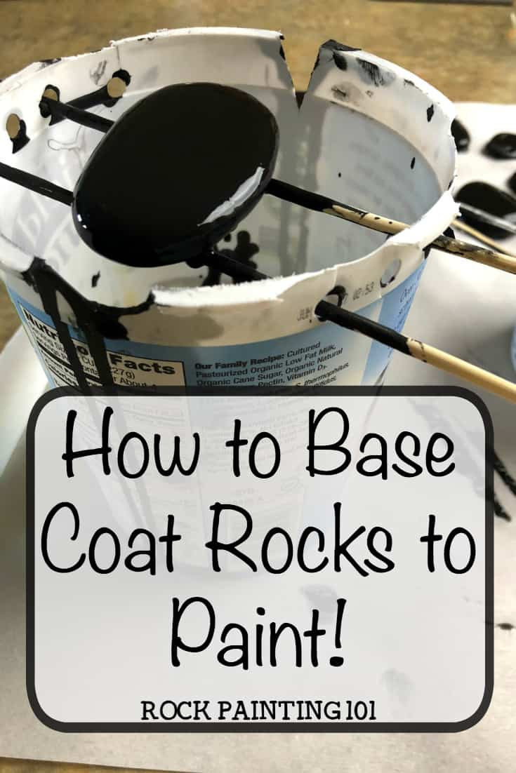 Add a base coat to your rocks ~ The fast and cheap way!