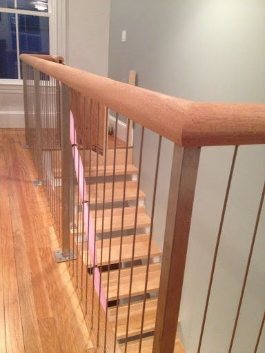 Vertical Stainless Steel Cable Railing Systems Interior Stairs