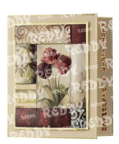 """3D-Die-Cuts """"lilies and tulips with segmented frames"""", 2 Sheets Size A4-83549"""