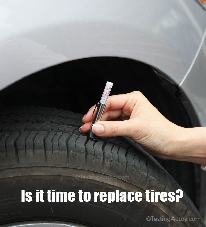 How To Measure Tire Tread Depth Tire Tread Depth Car Care Tips Tire Tread