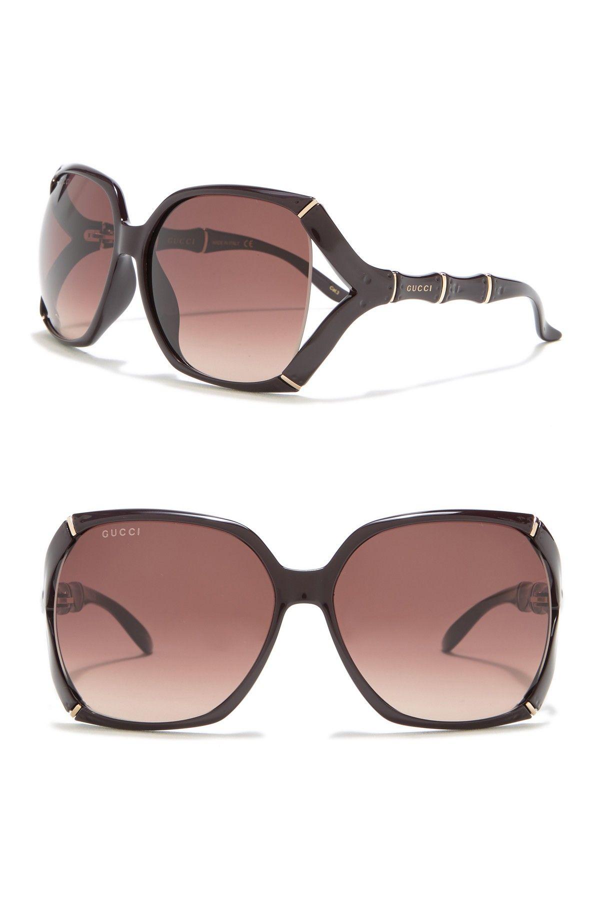 Gucci 58mm Oversize Square Sunglasses Color Aubergine Brown Style Square Size 58 14 110mm Oversized Square Sunglasses Square Sunglasses Sunglasses