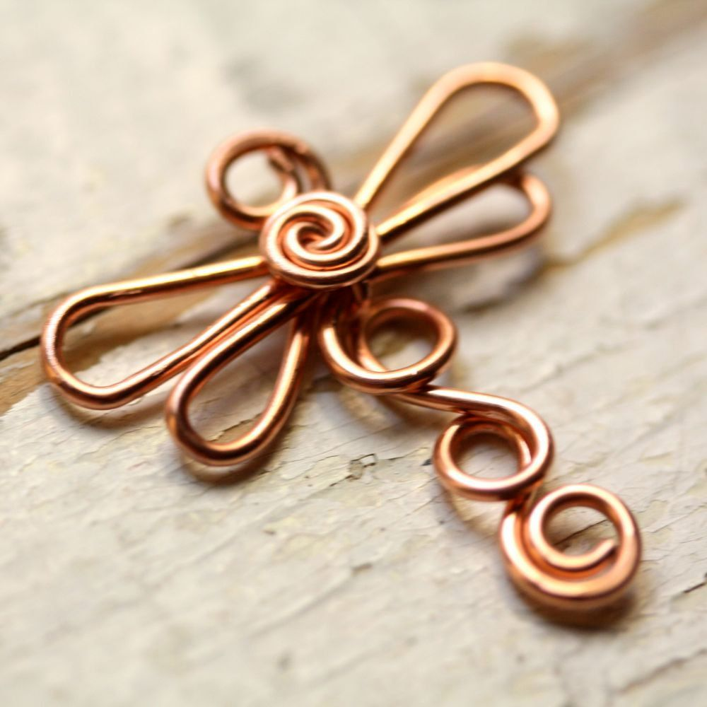 Copper Dragonfly Wirework - Small Dragonflies - Handmade Connector ...
