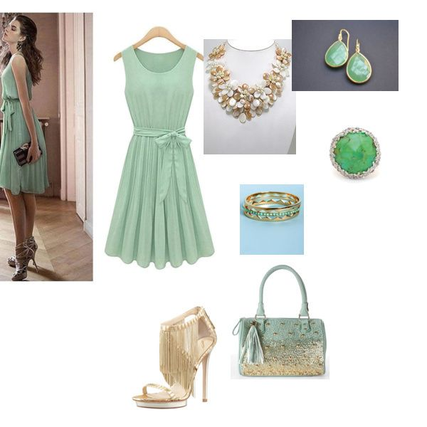 Flirty & Girly #outfit With A Darling Mint & Gold Doctor