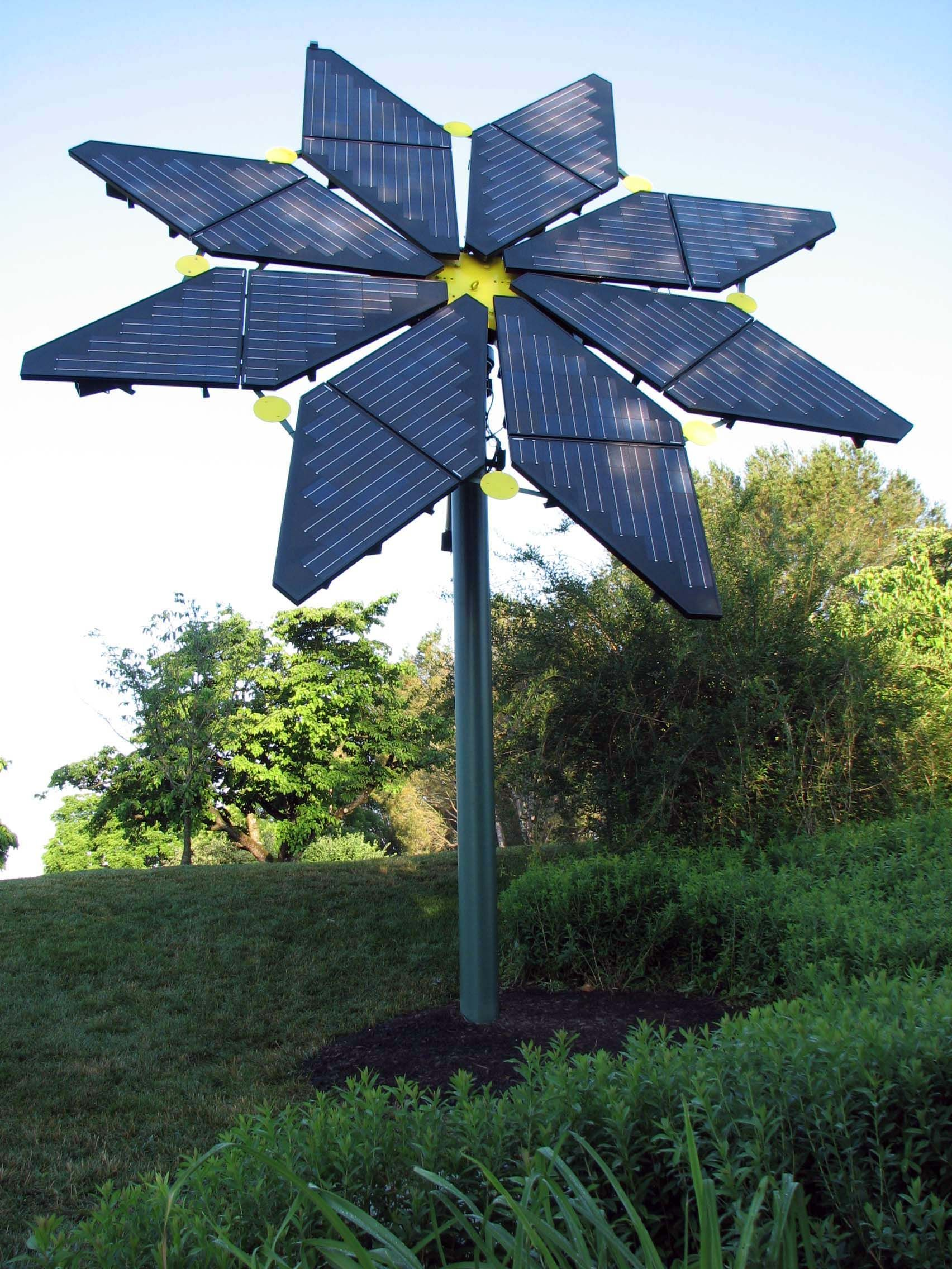 """love this!!! a true solar """"flower"""" located at Longwood"""
