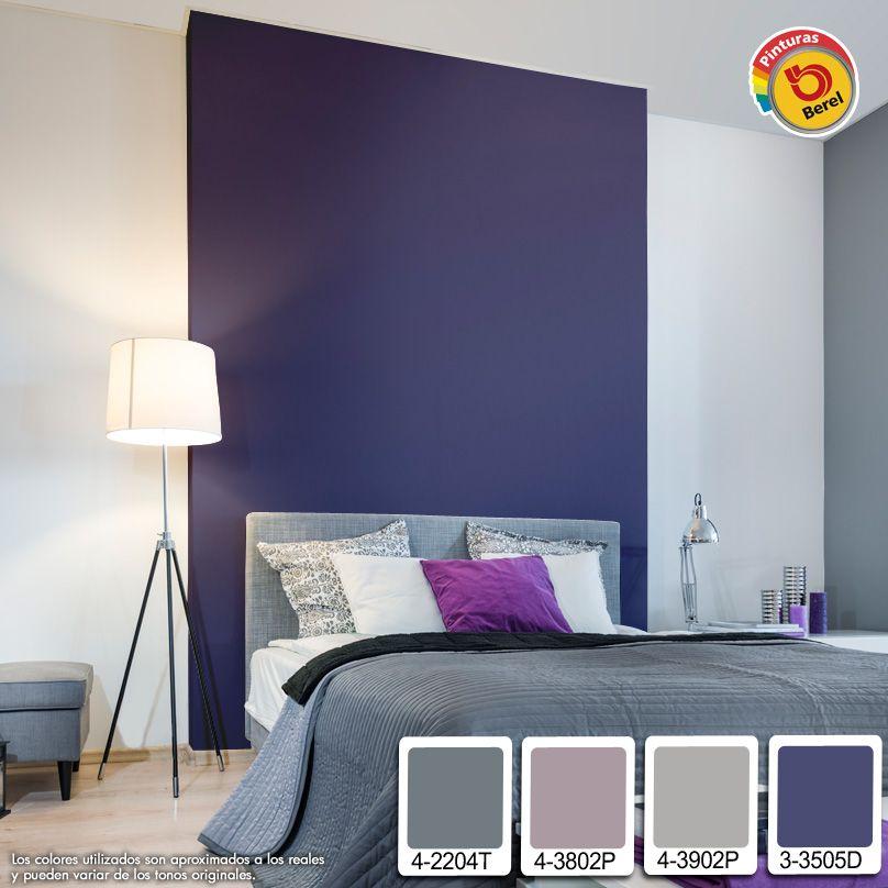 Los colores morados brindan un ambiente de elegancia - Diseno de pintura para interiores ...