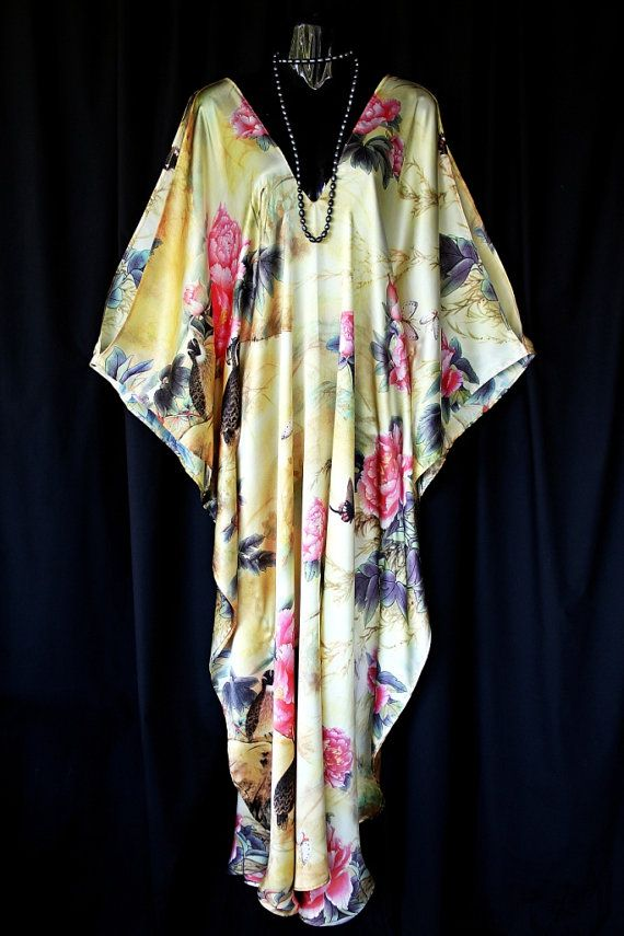 Sumptuous Silk Satin Full Length Kaftan by MollyKaftans on Etsy, $169.00