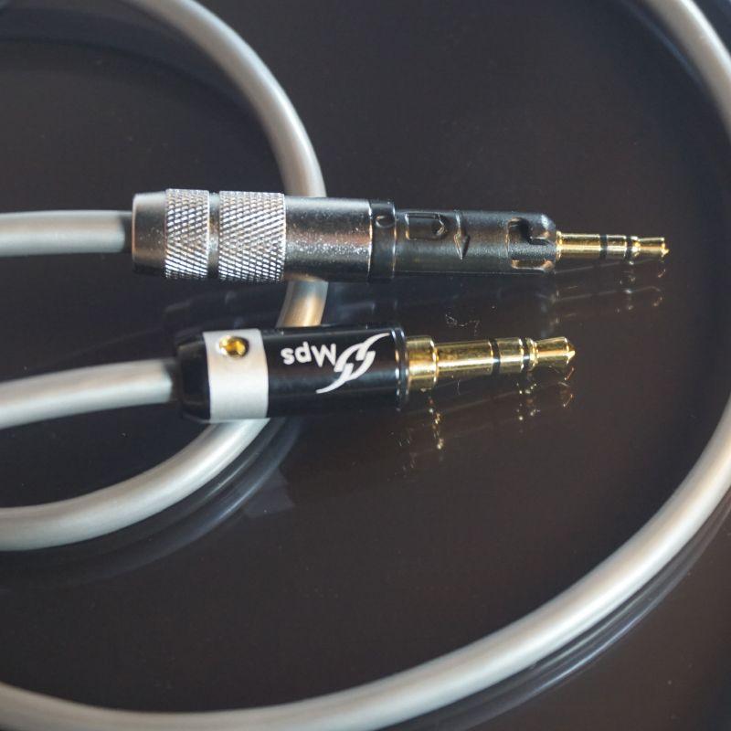 Male 1m 3.5mm Mini Jack Chrome Extension Flat Cable for Headphone Hi-Fi Male