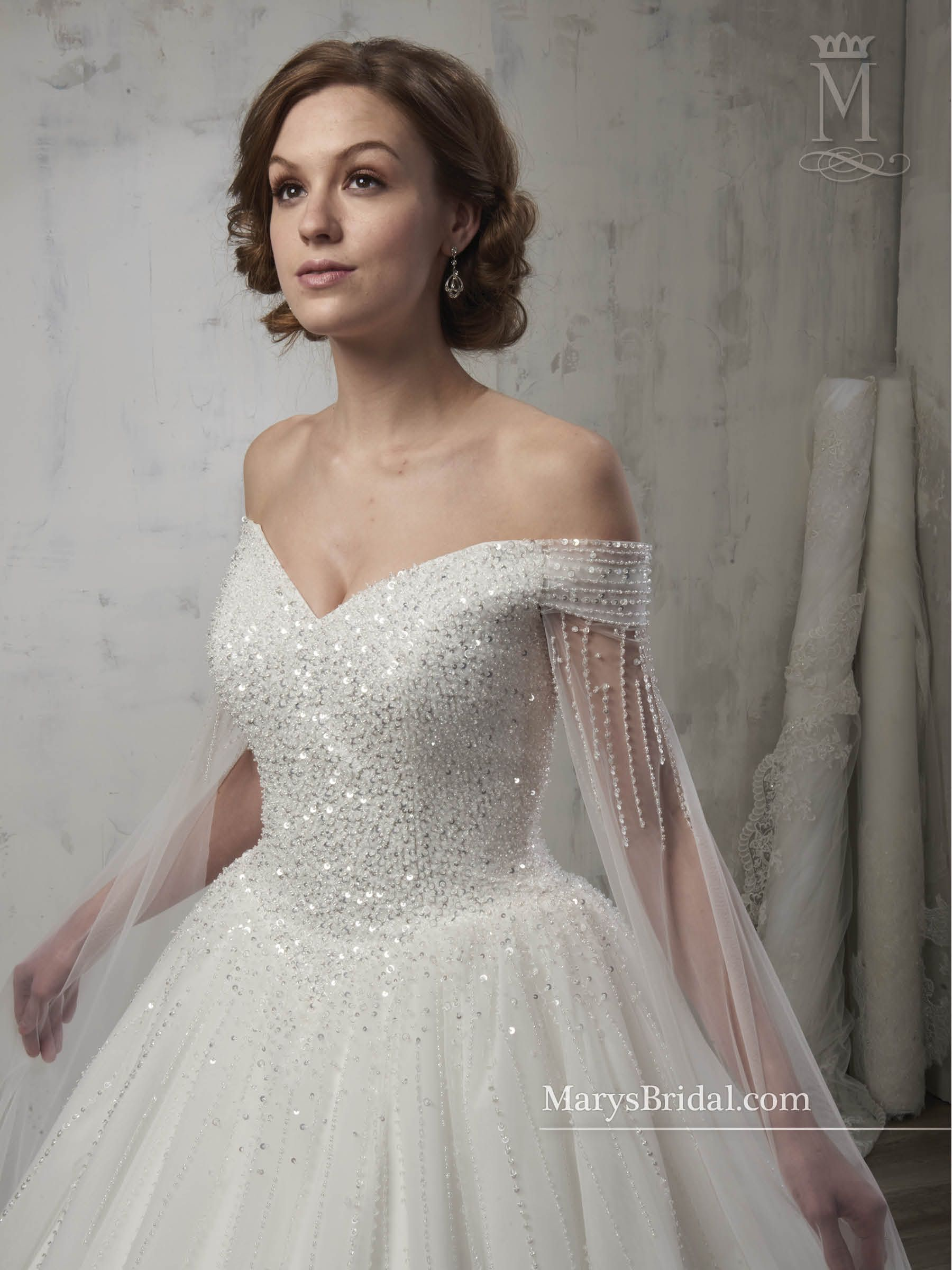 Style 6599 Close Bodice View With Tulle Attachments
